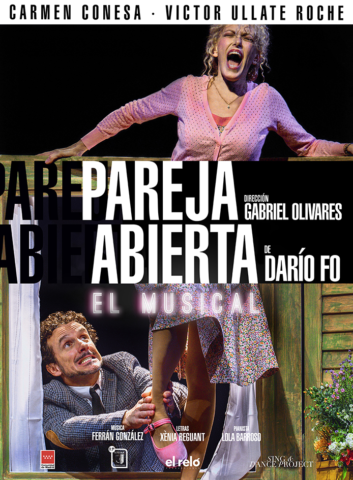 cartel Pareja abierta, el musical